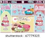 sweet and cupcake design... | Shutterstock .eps vector #67779325