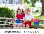 children go back to school.... | Shutterstock . vector #677793571