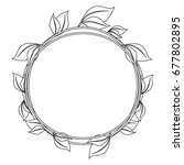 circular frame with leaves icon | Shutterstock .eps vector #677802895