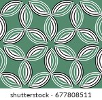 seamless geometric pattern with ... | Shutterstock .eps vector #677808511
