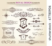 calligraphic elements vintage... | Shutterstock .eps vector #67780906