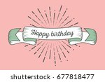 trendy retro ribbon with text... | Shutterstock .eps vector #677818477