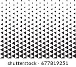 geometric black and white... | Shutterstock .eps vector #677819251