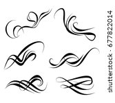 decorative monograms and... | Shutterstock .eps vector #677822014