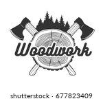woodworking. logo template....   Shutterstock .eps vector #677823409