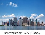 colorful daytime panorama view... | Shutterstock . vector #677825569