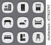 set of 9 editable interior...