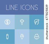 set of 6 editable kin icons....