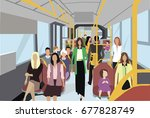 public transport | Shutterstock .eps vector #677828749