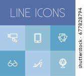 set of 6 editable trade icons....