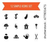 set of 12 editable planting...