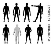 fashion man body set full... | Shutterstock .eps vector #677835217