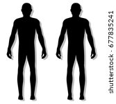 fashion body full length bald... | Shutterstock .eps vector #677835241