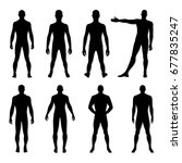 fashion man body set full... | Shutterstock .eps vector #677835247