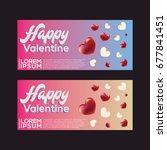 vector design banner valentine... | Shutterstock .eps vector #677841451