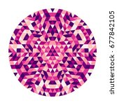 Round Abstract Geometric...