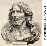 Engraved Illustration Of Jesus...