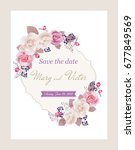 wedding invitation cards with... | Shutterstock .eps vector #677849569