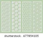 decorative geometric line... | Shutterstock .eps vector #677854105