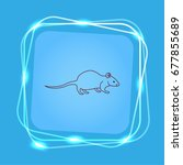 mouse  rat  rodent pest icon. | Shutterstock .eps vector #677855689