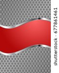 red background and metal grate  | Shutterstock .eps vector #677861461