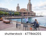 chicago  il  july 14  2017 ... | Shutterstock . vector #677866201