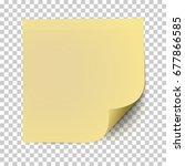 office yellow paper sticker... | Shutterstock .eps vector #677866585