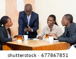 business people make a meeting... | Shutterstock . vector #677867851