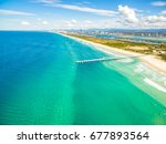 an aerial photo of the sand... | Shutterstock . vector #677893564