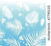 palm leaf background  blue... | Shutterstock .eps vector #67790110