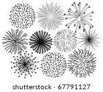 vector black fireworks | Shutterstock .eps vector #67791127