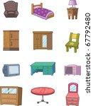 cartoon furniture icon | Shutterstock .eps vector #67792480