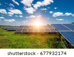 solar panels  photovoltaic  ...   Shutterstock . vector #677932174