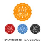 best choice badge label seal ... | Shutterstock .eps vector #677936437