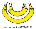 set of hand drawn banner vector ... | Shutterstock .eps vector #677942191