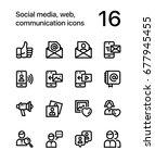 social media  web ... | Shutterstock .eps vector #677945455