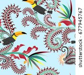 seamless contrast pattern with... | Shutterstock .eps vector #677945767