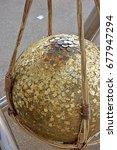 gilded gold buried candlestick  ... | Shutterstock . vector #677947294