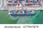 container container ship in... | Shutterstock . vector #677947879