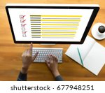 businessman survey and results...   Shutterstock . vector #677948251