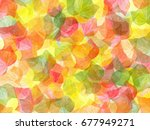 spring leaves abstract | Shutterstock . vector #677949271