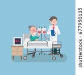 doctor visiting patient | Shutterstock .eps vector #677950135