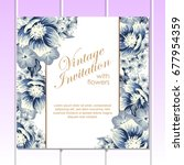 romantic invitation. wedding ... | Shutterstock . vector #677954359