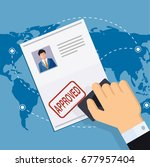 print approved document. | Shutterstock . vector #677957404