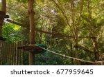 suspension bridge  walkway ... | Shutterstock . vector #677959645