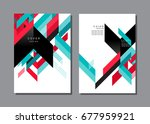 cover layout design    pattern... | Shutterstock .eps vector #677959921