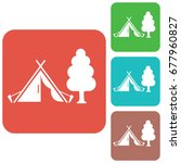 stylized icon of tourist tent.... | Shutterstock .eps vector #677960827