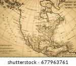old map america | Shutterstock . vector #677963761
