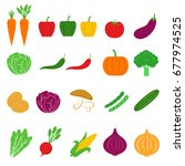 vegetable icon vector... | Shutterstock .eps vector #677974525