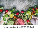 healthy balanced eating and... | Shutterstock . vector #677975164